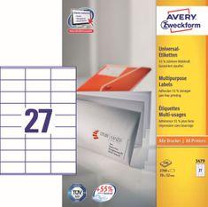 Avery Zweckform etikete 3479, 70x32 mm
