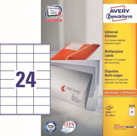 Avery Zweckform etikete 3475, 70x36 mm