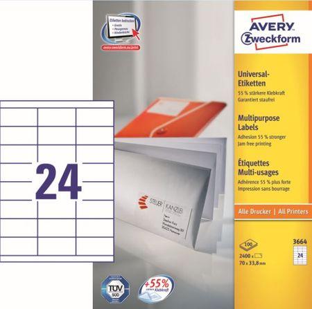 Avery Zweckform etikete 3664, 70x33,8 mm