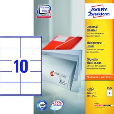 Avery Zweckform etikete 3425, 105x 57 mm, bele