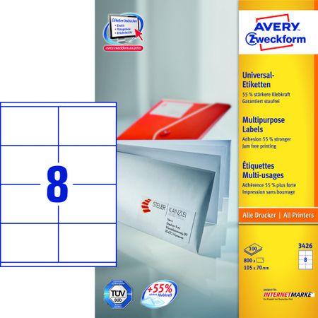 Avery Zweckform etikete 3426, 105x70 mm