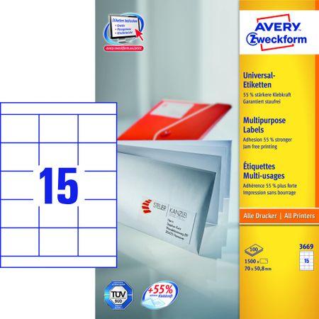 Avery Zweckform etikete 3669, 70x50,8 mm