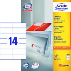 Avery Zweckform etikete 3653, 105x42.3 mm