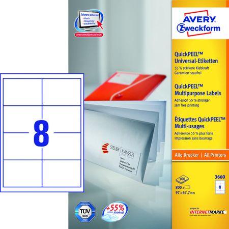 Avery Zweckform etikete 3660, 97x67.7 mm