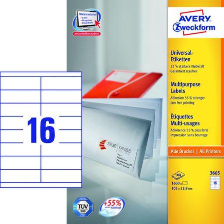 Avery Zweckform etikete 3665, 105x33.8 mm