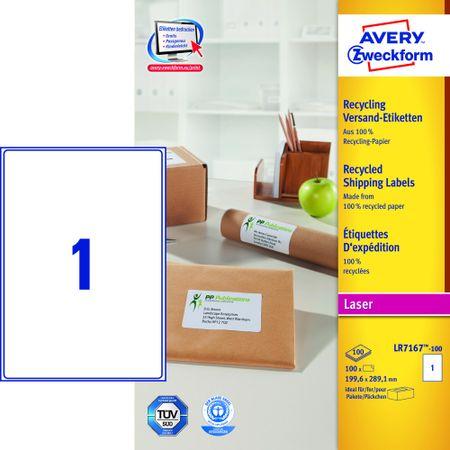 Avery Zweckform etikete LR7167-100, 199,6x289,1 mm