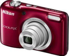 Nikon Coolpix L31 Red + nabíječka a 2x AA akumulátor ZDARMA!
