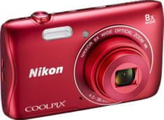 Nikon Coolpix S3700 Red - II. jakost
