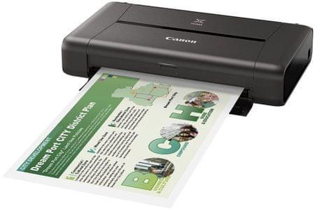 Canon prenosni tiskalnik Pixma iP110b z baterijo (9596B029AA)