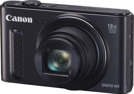 Canon digitalni fotoaparat PowerShot SX610 HS, črn