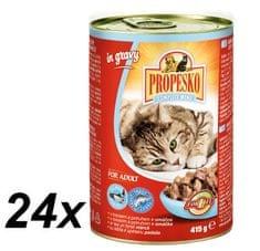 Propesko Macskaeledel tonhallal és lazaccal, 24 x 415 g