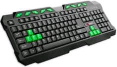 C-Tech GMK-102-G, USB, černo-zelená, multimediální, CZ/SK