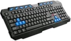 C-Tech GMK-102-B, USB, černo-modrá, multimediální, CZ/SK