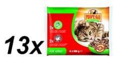 Propesko hrana za odrasle mačke, govedina i zečetina, 13 x (4 x 100 g)