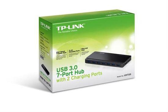 TP-Link 7 portni USB 3.0 hub z 2 polnilnima enotama 5V/2.4A (UH720)