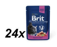 Brit Premium Cat Pouches with Salmon & Trout 24 x 100g