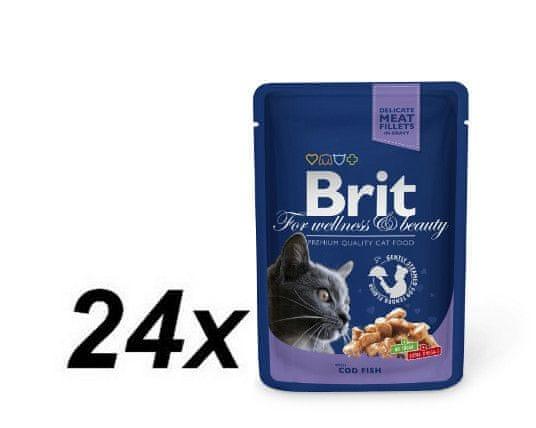 Brit Premium Cat Pouches with Cod Fish 24 x 100g