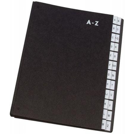 Connect mapa A4, odlagalna, črna, A-Z