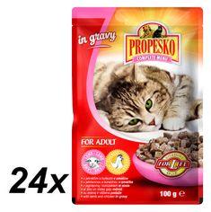 Propesko hrana za mačke, jagnjetina in piščanec, 24 x 100 g