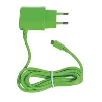 Celly cestovní nabíječka, micro USB, 1 A, zelená