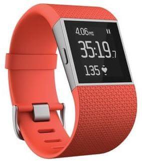 Fitbit opaska fitness Surge, duży, pomarańczowy
