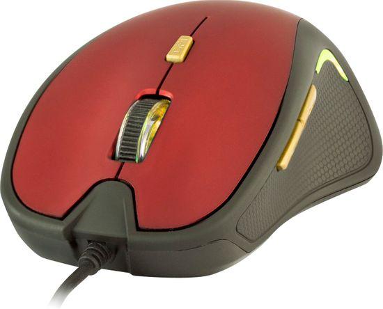 Yenkee USB mysz Dakar czerwono-czarna (YMS 1010BK)