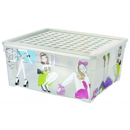Curver škatla za shranjevanje Deco's Textile, 18,5 l, Doll