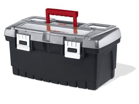 """KETER kovček za orodje PRO 19"""", črno/rdeč"""