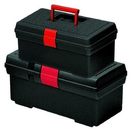 Curver kovček za orodje, set S+M, črno/rdeč