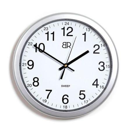 BR stenska ura, 30 cm, srebrna