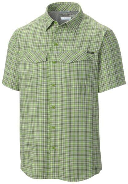 Columbia Silver Ridge Multi Plaid Short Sleeve Shirt Cyber Green Ripstop Plaid S