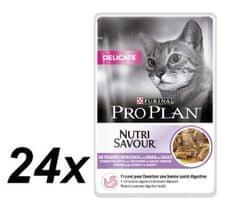 Purina Pro Plan mokra hrana za občutljive mačke, puran, 24x85g