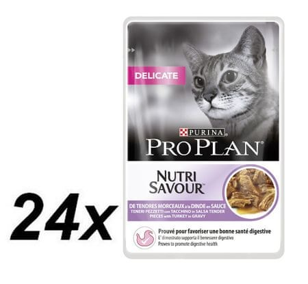 Purina Pro Plan CAT DELICATE Morka kapsička 24x85g