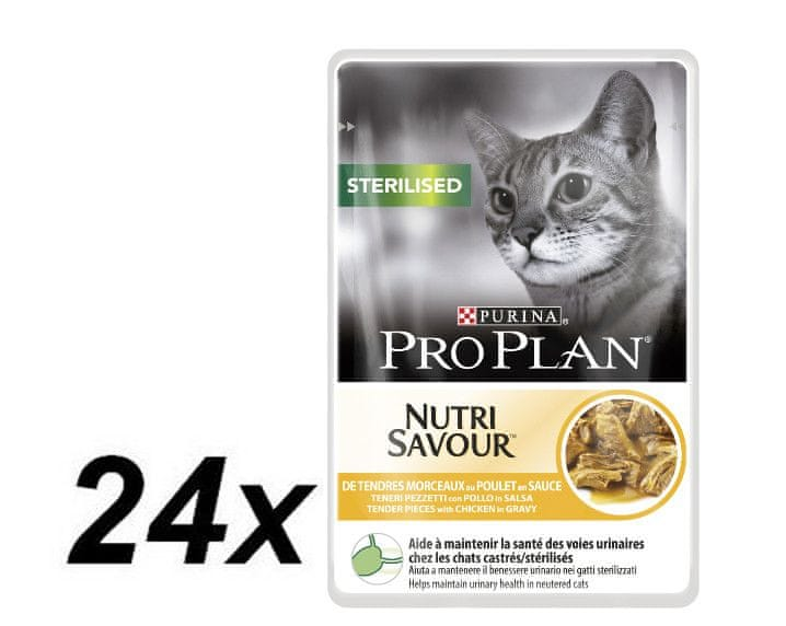 Purina Pro Plan CAT STERILISED Kuře kapsička 24x85g