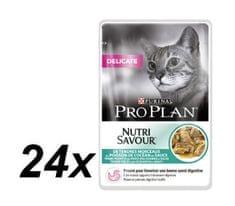 Purina Pro Plan mokra hrana za občutljive mačke, morske ribe, 24x85g