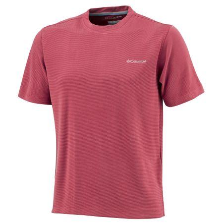 Columbia majica s kratkimi rokavi Sun Ridge II Crew, moška, rdeča, M