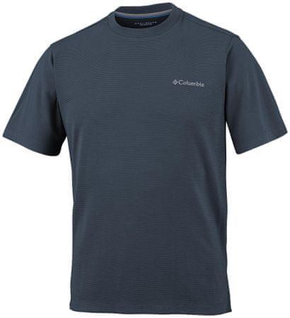 Columbia majica s kratkimi rokavi Sun Ridge II Crew, moška, temno siva, M