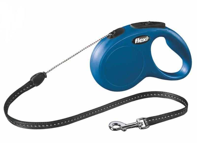 Flexi vodítko New Classic S lanko 5m/12kg modré