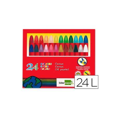 Liderpapel oljne pastelne barvice, 24 kosov