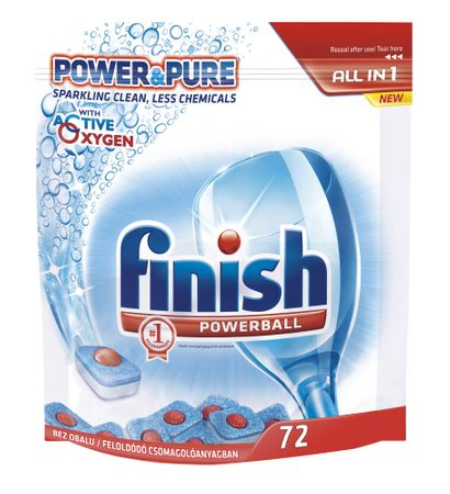 Finish Tabletki do zmywarek All-in 1 Power&Pure 72szt.