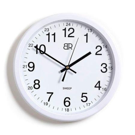 BR stenska ura, 30 cm, bela