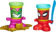 Play-Doh Tégliky v tvare hrdinov Spiderman a Goblin