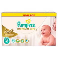 Pampers plenice Premium Care 3 Midi, 4-9 kg, 120 kosov