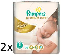 Pampers plienky PremiumCare 1 Newborn - 156 ks