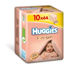 Huggies Chusteczki Soft Skin 10 x 64