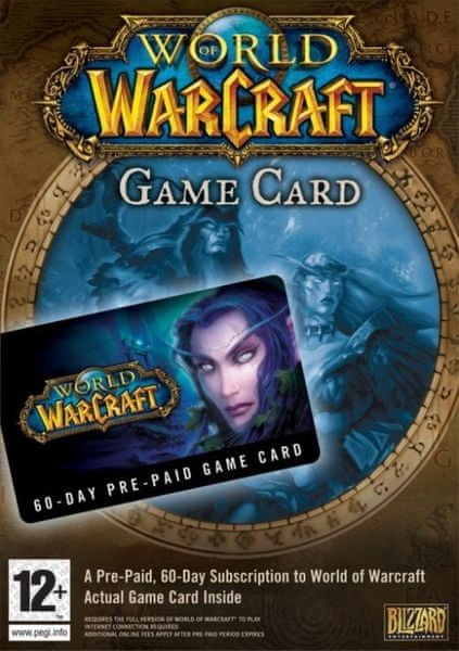 Blizzard World Of Warcraft 60-Day Prepaid Card
