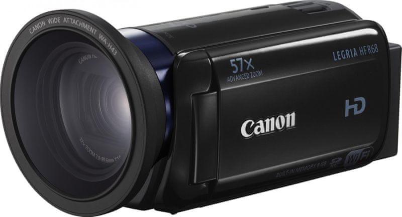 Canon LEGRIA HF R68 + širokoúhlá předsádka v balení