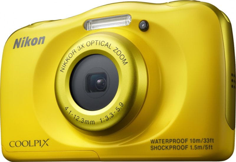 Nikon Coolpix S33 Yellow Backpack Kit