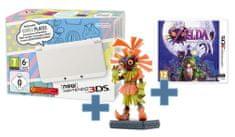 Nintendo NEW 3DS White + The Legend of Zelda: Majora's Mask 3D + figurka