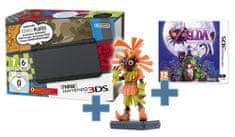 Nintendo NEW 3DS Black + The Legend of Zelda: Majora's Mask 3D + figurka